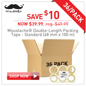 Moustache Packing Tape 36 pack $39.99