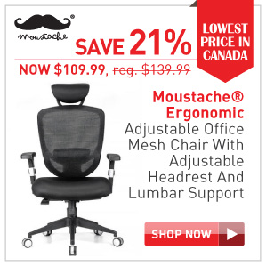 Moustache Ergonomic office chair with lumber support $109.99