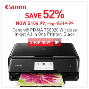 Canon Pixma ts8020 wireless inkjet printer