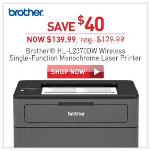 Brother HL-L2370DW monochrome laser printer $139.99