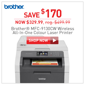 Brother MFC-9130CW wireless color laser pritner $329.99