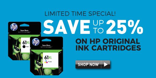 HP original ink up to 25% off
