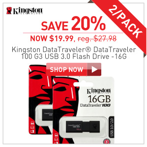 Kingston Flash Drive $39.99