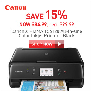 Save 15% Canon Pixma TS6120 color inkjet printer
