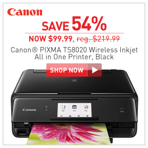 save 40% Canon PIXMA TS8020 inkjet printer