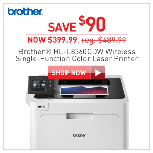 save $90 Brother HL-L83620CDW laser printer