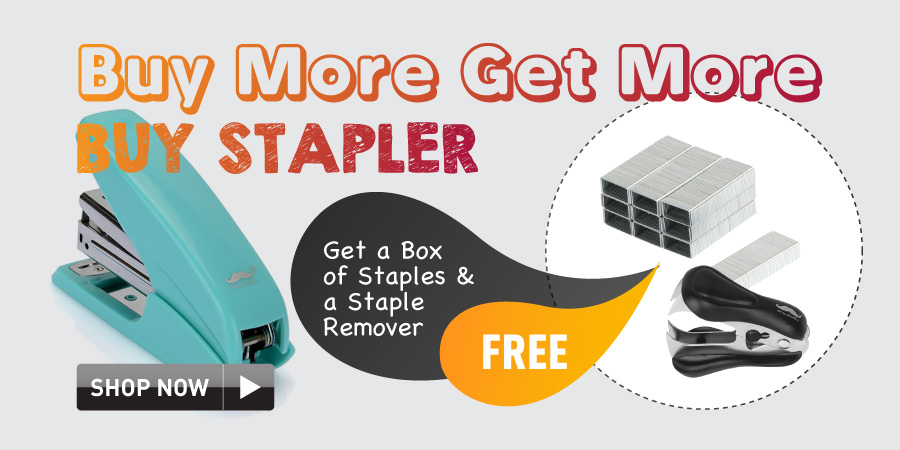 Buy stapler get free stples and staple remover