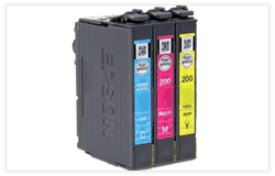 Epson T200520 (Epson 200) OEM DURABrite Ultra Ink Cartridges Combo (Cyan/Magenta/Yellow)