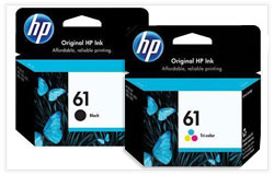 HP 61 OEM Ink Cartridge Combo Set (CH561WN+CH562WN)