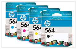 HP 564 BK/C/M/Y OEM Ink Cartridge Combo Set (CB316WC/CB318WC /CB319WC/CB320WC)