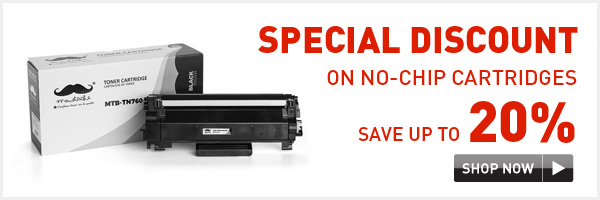 20% OFF on no-chip cartridges