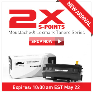 5x S-Points on Moustache lexmark toner series