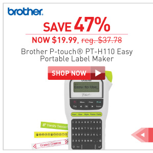save 47% Brother PT-H110 Lable maker