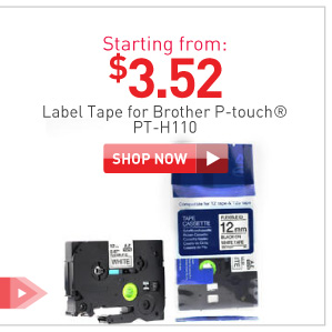 Label Tape Brother PT-H110 starting from $3.52