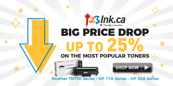 123ink Brother TN730 HP 17A HP 30A Big Price drop