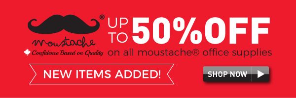 Up to 50% off Moustache Office supplies
