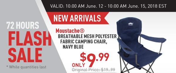 Flash Sale Moustache Camping Chair $9.99