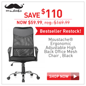 Save $110 Moustache ergonomic Mesh chair