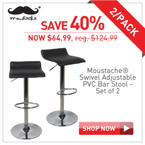 save 40% on Moustache bar stool set of 2