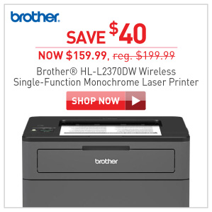 Save 34% Brother HL-L2370DW wirless printer