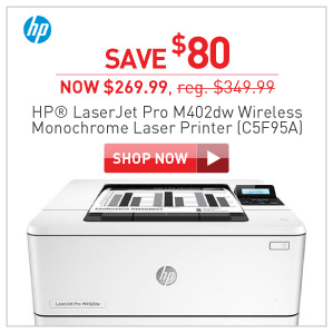 Save $80 HP LaserJet pro M402dw Laser printer