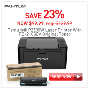 Save 23% Pantum P2500W laser printer with PB-210EV toner