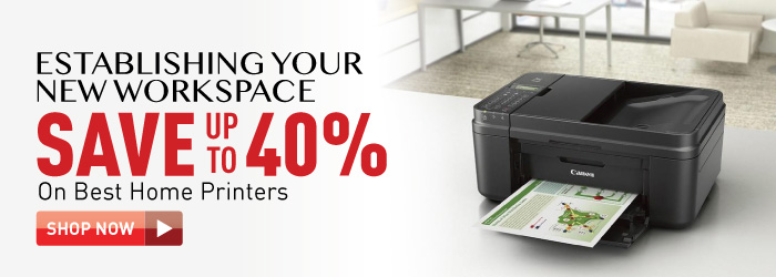 Save up to 40% on home printers