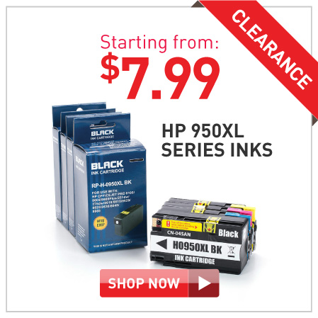 HP 950XL inks starting $5.99
