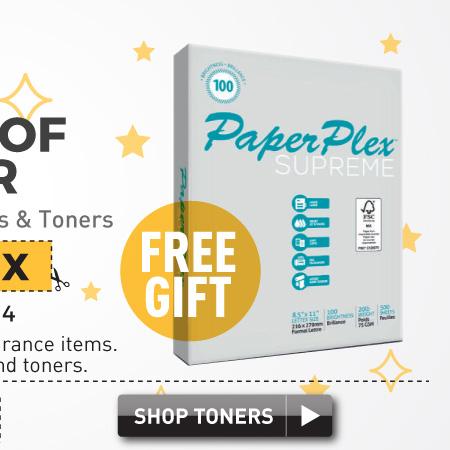 buy toner get copy paper free