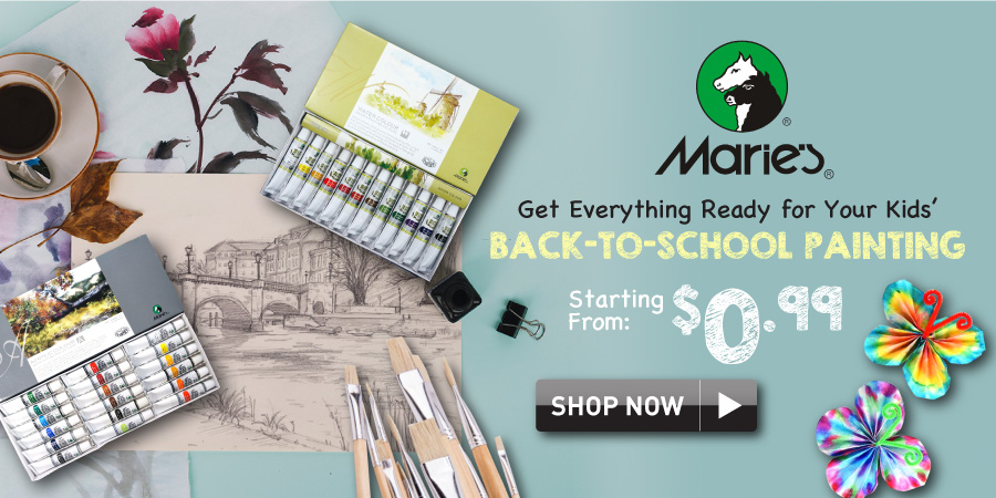 marie's painting supplies for back to school
