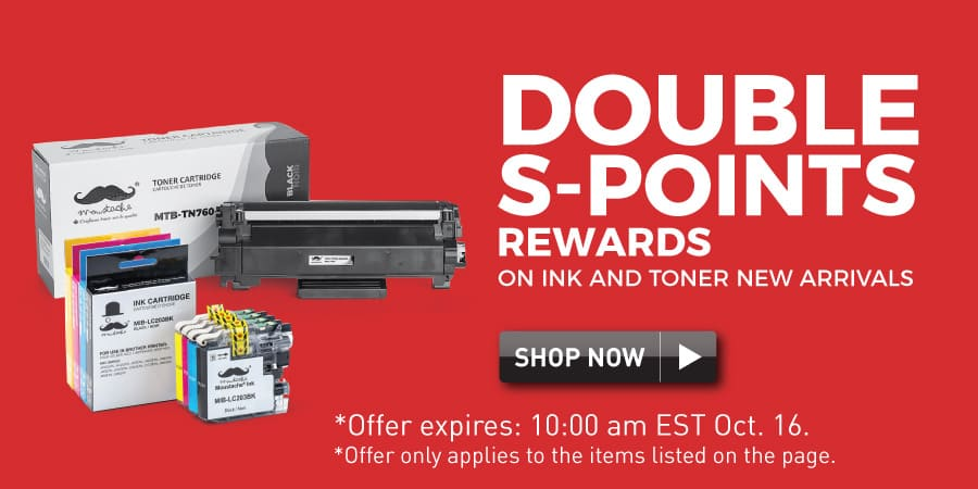 double s-points rewards on ink toner new arrivals