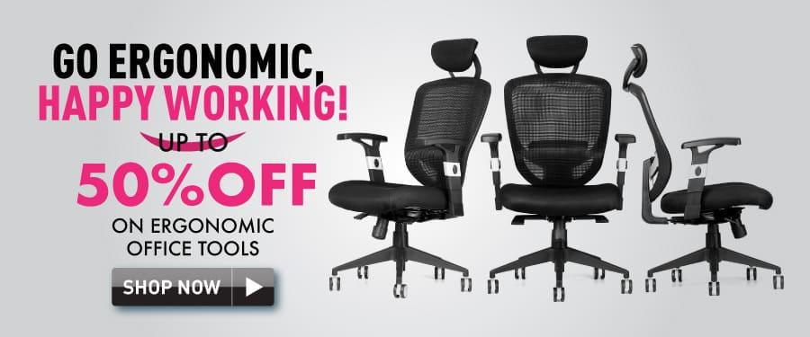 50% off on ergonomic office tools