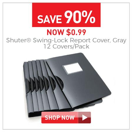 Shuter Swing-lock report cover 12 covers per pack $0.99