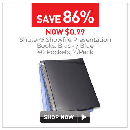 $0.99 Showfile presentation books 40 pockets 2 pack