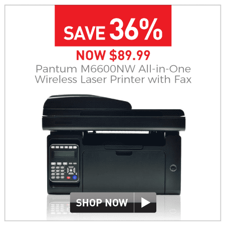 $89.99 Pantum M6600NW all-in-one wireless laser printer with fax