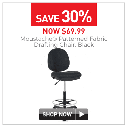 Patterned fabric drafting chair $69.99