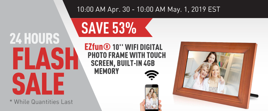 flash deal: 10'' WIFI Digital Photo Frame with Touch Screen