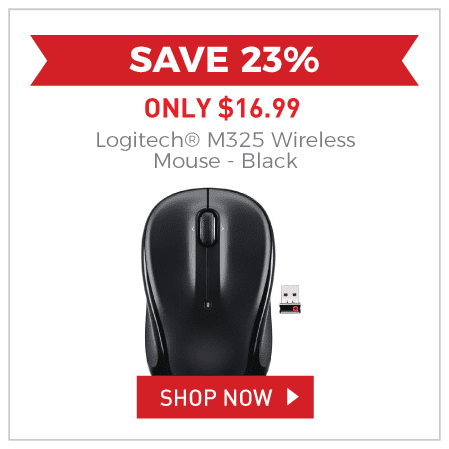 Logitech® M325 Wireless Mouse - Black