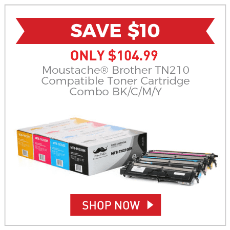 Moustache® Brother TN210 Compatible Toner Cartridge Combo BK/C/M/Y