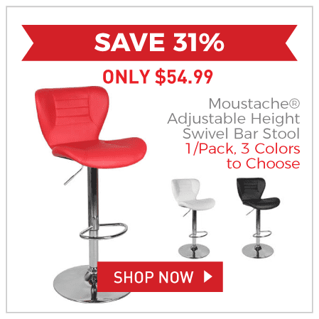 Moustache® Adjustable Height Swivel Bar Stool - 1/Pack